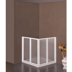 Box doccia ad angolo a scomparsa a 4 ante 76x76 cm art.1608/4