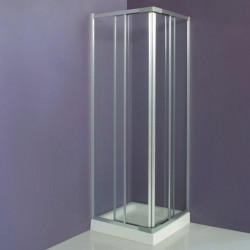 Box doccia scorrevole ad angolo 3201 da 70/80 cm in cristallo 3 mm