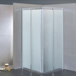 Box doccia scorrevole ad angolo 3600/3604 da 63/67 e 83/87 cm in crilex 3 mm Bianco Crilex Pioggia