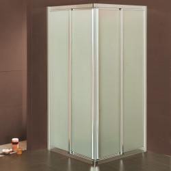 Box doccia scorrevole ad angolo 4103/4111 da 78/82 a 118/122 cm in cristallo 4 mm
