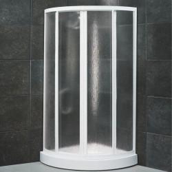 Box doccia semicircolare scorrevole 1800 da 80x80 cm in crilex 3 mm