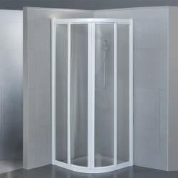 Box doccia semicircolare scorrevole 1950 da 70x90 cm in cristallo 4 mm
