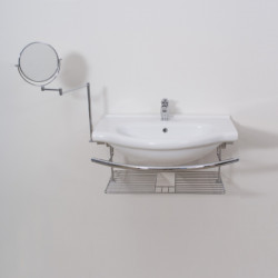 Lavabo consolle Caio 75 cm completo di accessori