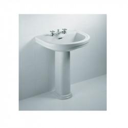 Calla lavabo 3 fori completo di colonna 68 cm Bianco Ideal