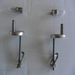 Cerniere per copriwater vaso filo muro regolabili coppia cromo