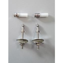 Cerniere per copriwater vaso filo muro fisse coppia cromo