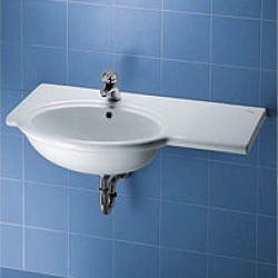 Clodia lavabo top semincasso 105x52 cm destro bianco