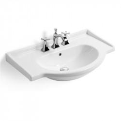 Lavabo top integrale semincasso Combi cm. 71 bianco