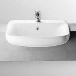 Conca lavabo semincasso monoforo bianco Ideal