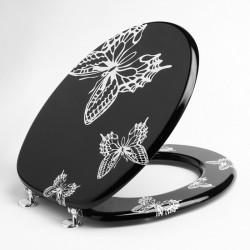 Copriwater Farfalle nero