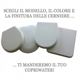 Ideal Standard copriwater Classica Moderno bianco cromo