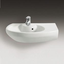 Dama Senso Compacto lavabo angolare asimmetrico destro 68 cm bianco