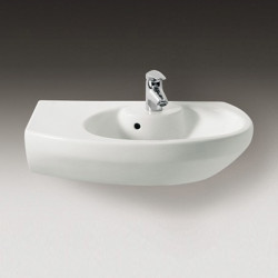 Dama Senso Compacto lavabo angolare asimmetrico sinistro 68 cm bianco