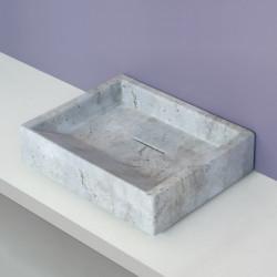 Diagonal lavabo da appoggio Cemento