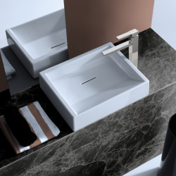 Diagonal lavabo da appoggio bianco