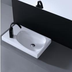 Drop lavabo da appoggio 60 cm bianco