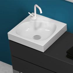 Drop lavabo da appoggio 40 cm bianco