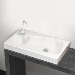 Drop lavabo da appoggio 70 cm bianco