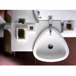 Ego lavabo sospeso 70x40 cm destro in ceramica bianco