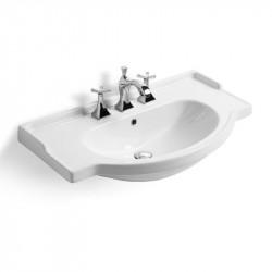 Lavabo top integrale semincasso Equa cm. 95 bianco