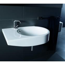 Escape lavabo sospeso 80 cm bacino a destra bianco