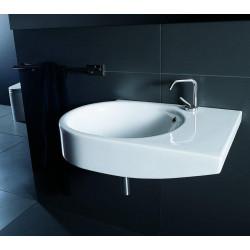 Escape lavabo sospeso 80 cm bacino a sinistra bianco