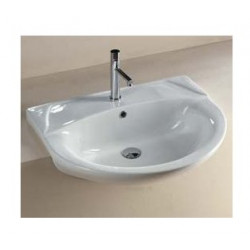 Euro lavabo semincasso 66 cm in ceramica bianco