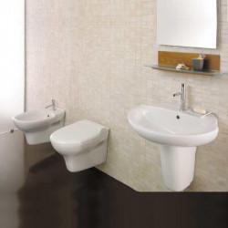 Euro Sospeso bagno completo con lavabo da 68 cm bianco
