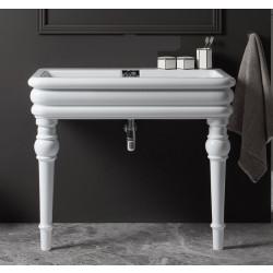 Florence lavabo consolle 100x60 cm senza fori rubinetteria Bianco