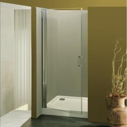 Porta doccia a battente Franca da 87/89 cm in cristallo 6 mm