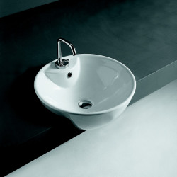 Ghost lavabo semincasso 47x47 cm bianco