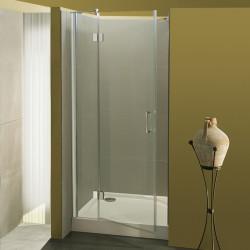 Porta doccia a battente Giorgia da 98/100 cm in cristallo 6 mm