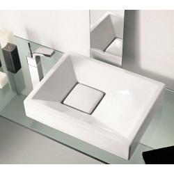 Groove lavabo da appoggio bianco