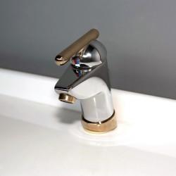 """Kludi Scala miscelatore monocomando lavabo con attacco 1""""1/4. Finitura cromo oro"""