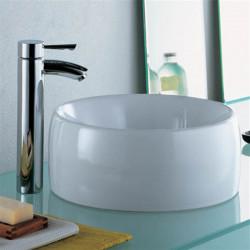 Acanta 1 lavabo da appoggio tondo 40 cm bianco