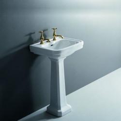 Albano lavabo 50 cm completo di colonna bianco