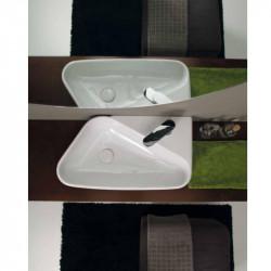 Shelf lavabo da appoggio o sospeso Bianco