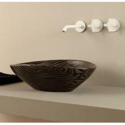 Afya lavabo da appoggio Zebra Argento