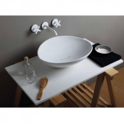 Afya lavabo da appoggio Bianco