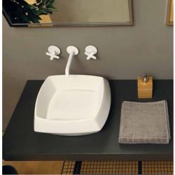 Hasana lavabo da appoggio Bianco