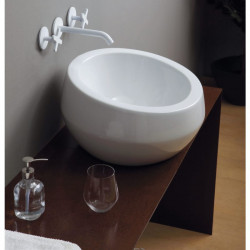 Thabo lavabo da appoggio Bianco