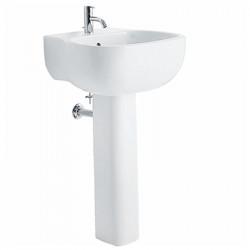500 lavabo monoforo 52 cm completo di colonna bianco
