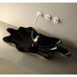 Shell lavabo da appoggio Unique Black&Platinum