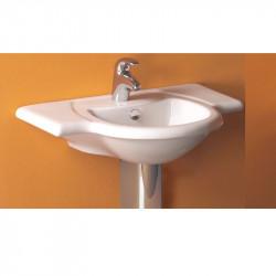 Lavabo consolle 76 cm bianco