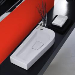 Sweet lavabo da appoggio sinistro Bianco