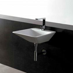 Edge lavabo da appoggio o sospeso 44 cm bianco