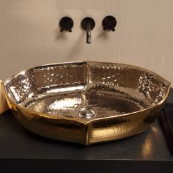 Oyster lavabo da appoggio ExtraLuxury Platinum&Gold