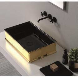 Charme lavabo da appoggio Black&Gold