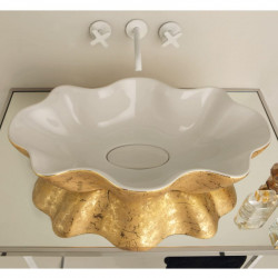 Seastar lavabo da appoggio Unique White&Gold