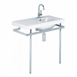 500 lavabo rettangolare asimmetrico 100 cm sinistro bianco cod. 41001
